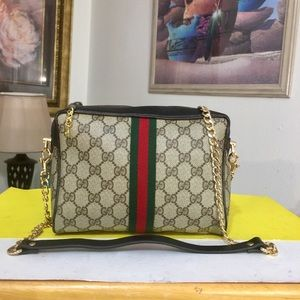 Gucci GG Pattern Shoulder Bag 💼 Black trim